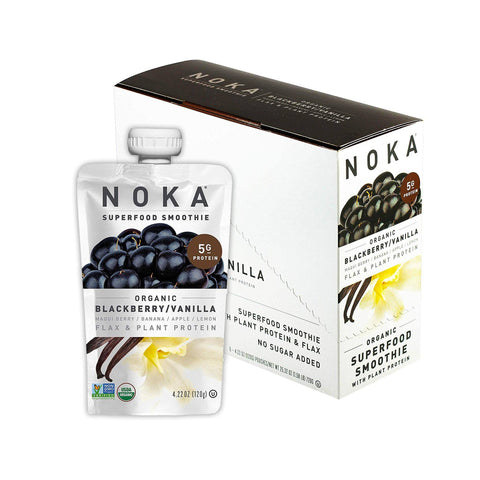 NOKA Blackberry Vanilla Superfruit Smoothie - 6 Count