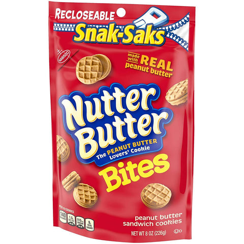 Nutter Butter Bites Peanut Butter Sandwich Cookies (8 oz.) Snack-Saks - 12 Count
