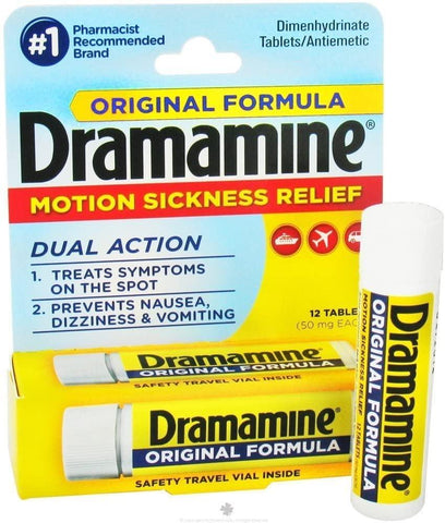 Dramamine Original Motion Sickness Relief (50mg) - 12 Count