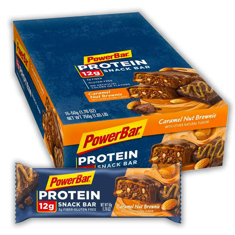 POWERBAR Caramel Nut Brownie Protein Snack Bars - 15 Count
