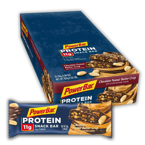 POWERBAR Chocolate Peanut Crisp 1.94 oz. Protein Snack Bars - 15 Count