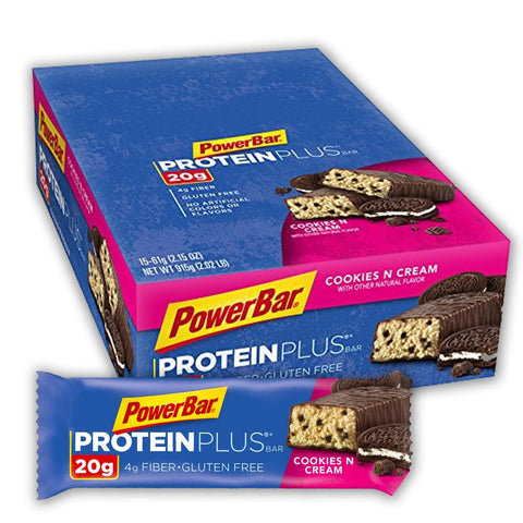 POWERBAR Cookies N Cream 2.15 oz. Protein Plus Bars - 15 Count