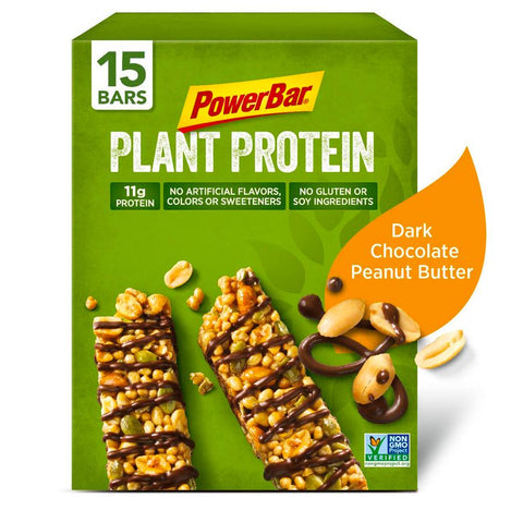 POWERBAR Dark Chocolate Peanut Butter 1.76 oz. Plant Protein Bars - 15 Count
