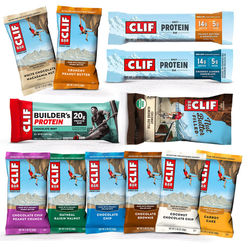 Protein Champion CLIF BAR Assortment Box of Protein Bars - 12 Count
