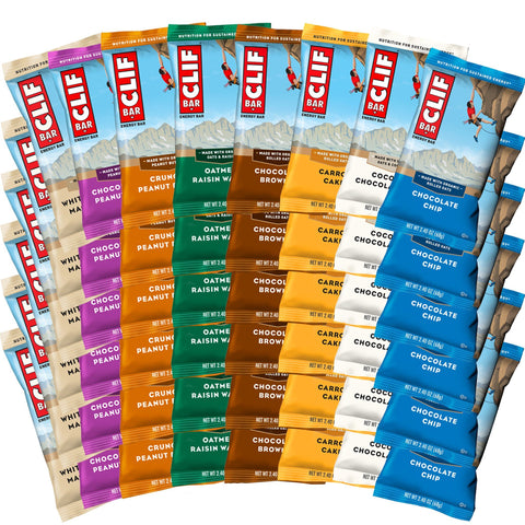CLIF BAR Mega Assortment Box of Protein Bars - 48 Count