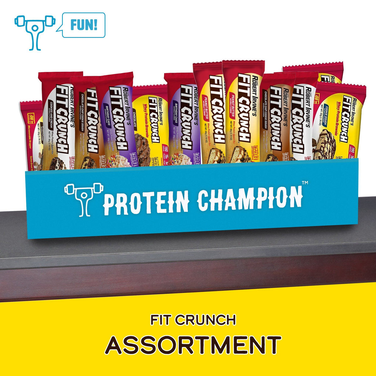 Protein Champion FIT CRUNCH Assortment Box Of Bars