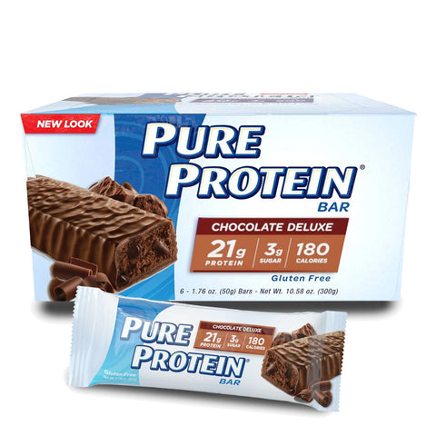PURE PROTEIN Chocolate Deluxe Protein Bars - 6 Count