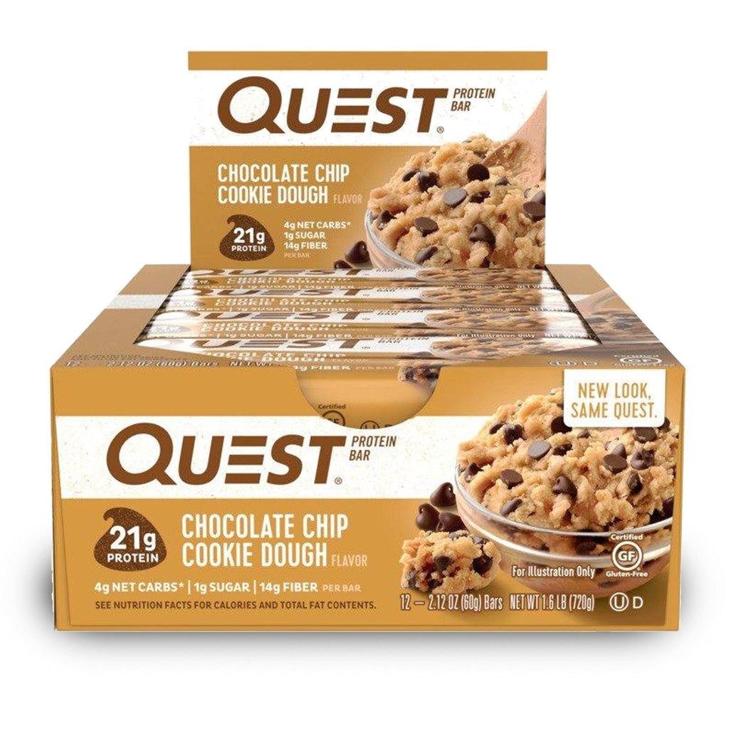 QUEST NUTRITION Chocolate Chip Cookie Dough Protein Bars ...
