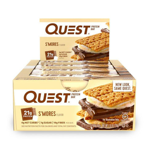 QUEST NUTRITION S'Mores Protein Bars - 12 Count