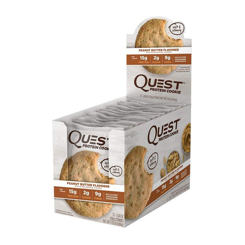 QUEST NUTRITION Peanut Butter Protein Cookies - 12 Count