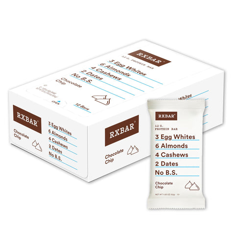RXBAR Chocolate Chip Protein Bars - 12 Count