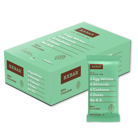 RXBAR Mint Chocolate Protein Bars - 12 Count