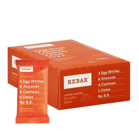 RXBAR Pumpkin Spice Protein Bars - 12 Count - Limited Edition