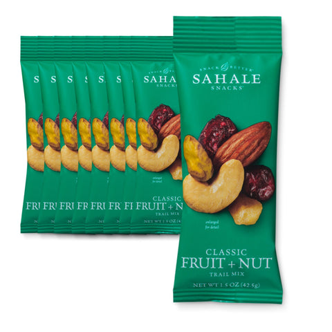 SAHALE SNACKS Classic Fruit & Nut Trail MixNut Snacks 1.5 oz.  - 9 Count