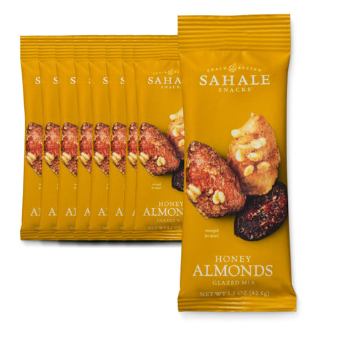 SAHALE SNACKS Honey Almonds Glazed Mix Nut Snacks - 9 Count