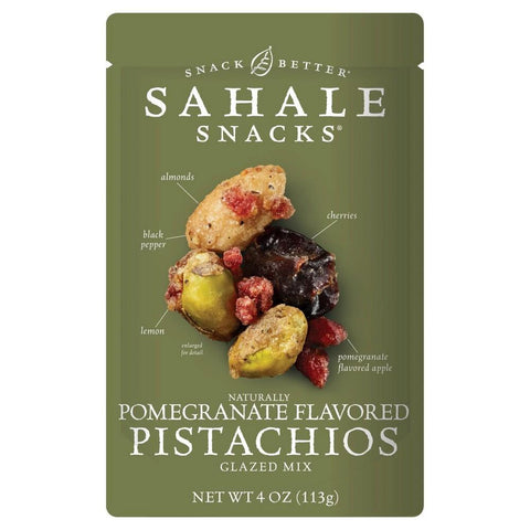 SAHALE SNACKS 4 oz. Pomegranate Pistachios Glazed Mix Nut Snacks - 6 Count