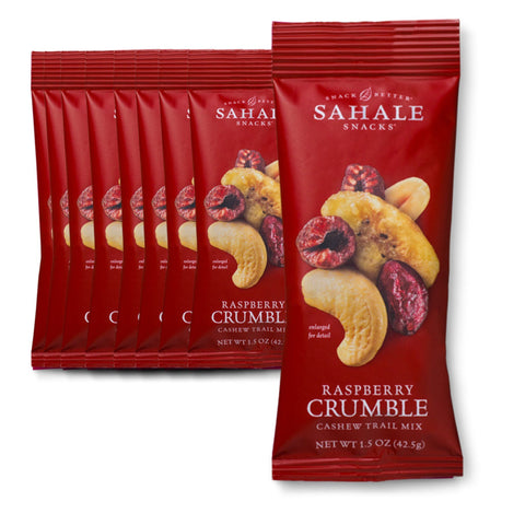 SAHALE SNACKS Raspberry Crumble Cashew Trail Mix Nut Snacks 1.5 oz. - 9 Count