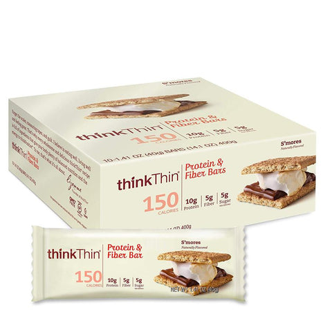 THINK THIN S'mores 1.41 oz. Protein Bars - 10 Count