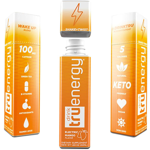TRU DRINK Energy Electric Mango - 12 Count