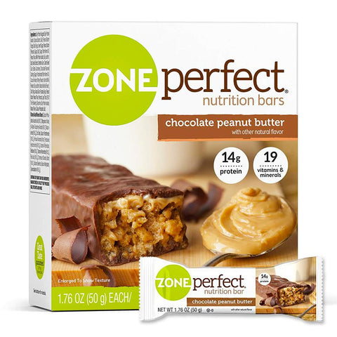 ZONEPERFECT Chocolate Peanut Butter 1.76 oz. Protein Bars - 12 Count