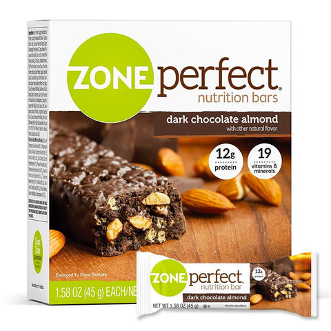 ZONEPERFECT Dark Chocolate Almond 1.58 oz. Protein Bars - 12 Count