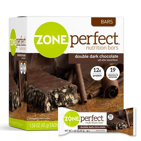 ZONEPERFECT Double Dark Chocolate 1.58 oz. Protein Bars - 12 Count
