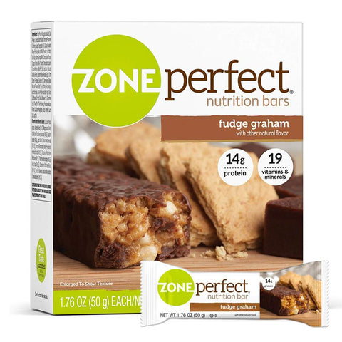 ZONEPERFECT Fudge Graham 1.76 oz. Protein Bars - 12 Count