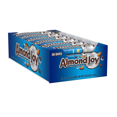 ALMOND JOY Chocolate Coconut Bar (1.61 oz) - 36 Count