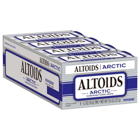 Altoids Arctic Peppermint Breath Mints (1.2 oz.) Tin - 8 Count Box