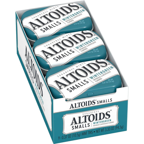 Altoids Smalls Wintergreen Breath Mints (.37 oz.) Tin - 9 Count