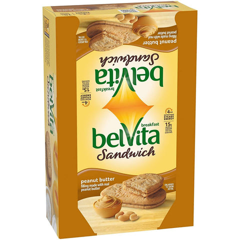 BELVITA Peanut Butter Breakfast Biscuit Sandwiches (1.76 oz Packs) - 8 Count