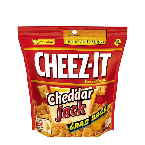 Cheez-It Cheddar Jack Crackers (7 oz.) Resealable Pouches - 6 Count