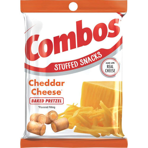 COMBOS Cheddar Cheese Pretzel Baked Snacks (6.3-Ounce Bag) - 12 Count