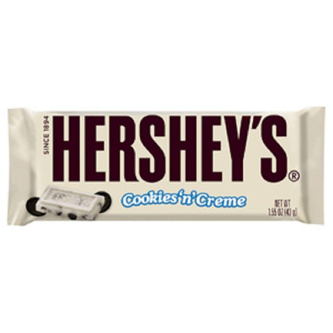 HERSHEY'S Cookies 'n' Creme Candy Bar, (1.55 Ounce) - 36 Count