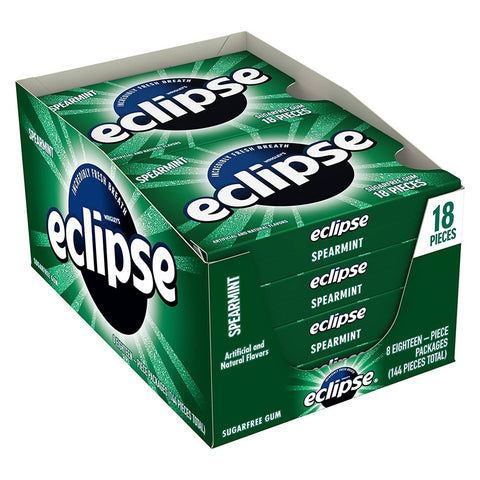 Eclipse Spearmint Chewing Gum, (18 pieces) - 8 Count