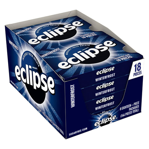 Eclipse Winter Frost Chewing Gum, (18 pieces) - 8 Count