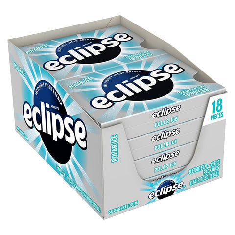 Eclipse Polar Ice Chewing Gum, (18 pieces) - 8 Count