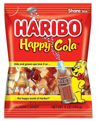 Haribo Gummi Candy, Happy Cola (5 oz Bag)  - 12 Count