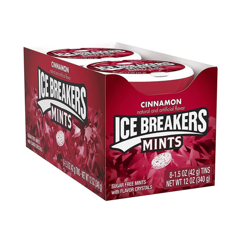 ICE BREAKERS Sugar Free Mints, Cinnamon, (1.5 Ounce) - 8 Count