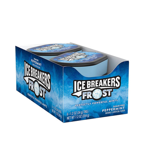 Ice Breakers Frost Sugar Free Mints, Peppermint, (1.2 Ounce) - 6 Count