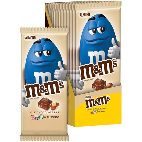 M&M'S Almond & Minis Milk Chocolate Candy Bar, (3.9 Ounce) - 12 Count