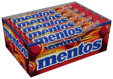 Mentos Chewy Cinnamon Candy Roll (1.32 oz.) - 15 Count Box