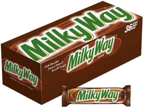 Milky Way Chocolate Candy Bars  (1.84 oz.) - 36 Count Box