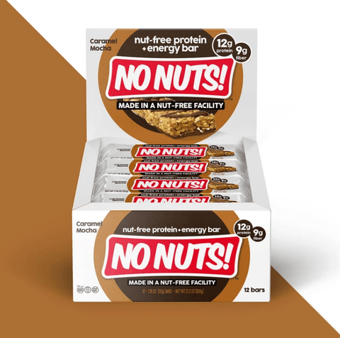 NO NUTS Caramel Mocha Protein Bars - 12 Count