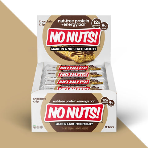 NO NUTS Chocolate Chip Protein Bars - 12 Count