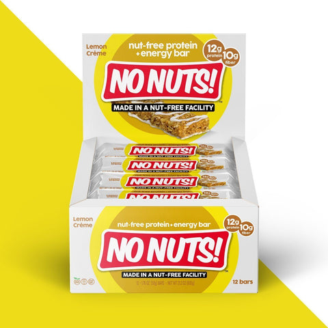 NO NUTS Lemon Creme Protein Bars - 12 Count