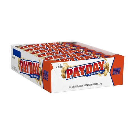 PAYDAY King Size Bars  (3.4 oz.) - 18 Count Box