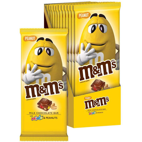M&M'S MINIS Peanut & Milk Chocolate Candy Bar (4 oz.) - 12 Count Box