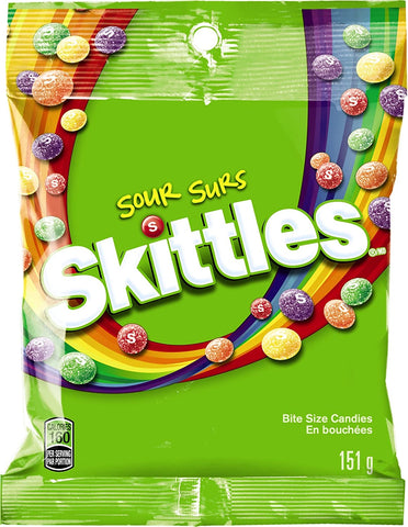 Skittles Sour Candy (5.7 oz. Bag) - 12 Count