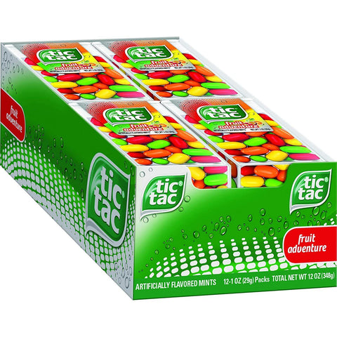 Tic Tac Fresh Breath Mints, Fruit, Big Pack (1 oz.) - 12 Count Box
